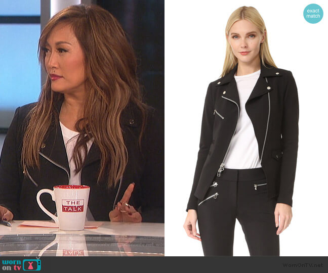Scuba Hadley Jacket by Veronica Beard worn by Carrie Inaba (Carrie Inaba) on The Talk