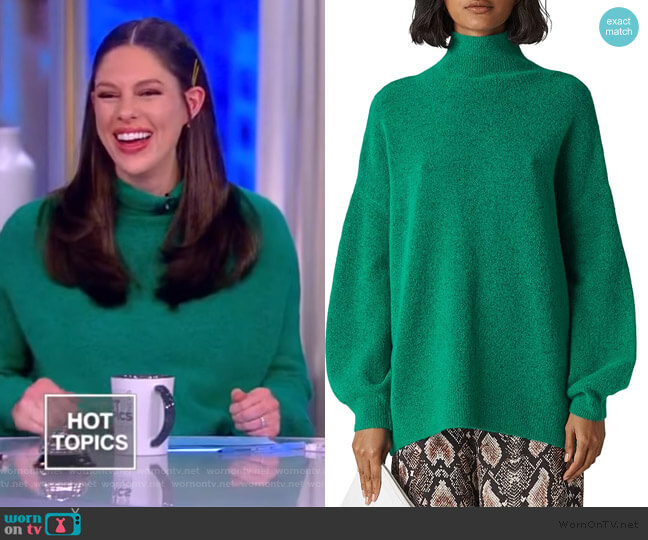 Oversize Funnel-Neck Sweater by Whistles worn by Abby Huntsman  on The View