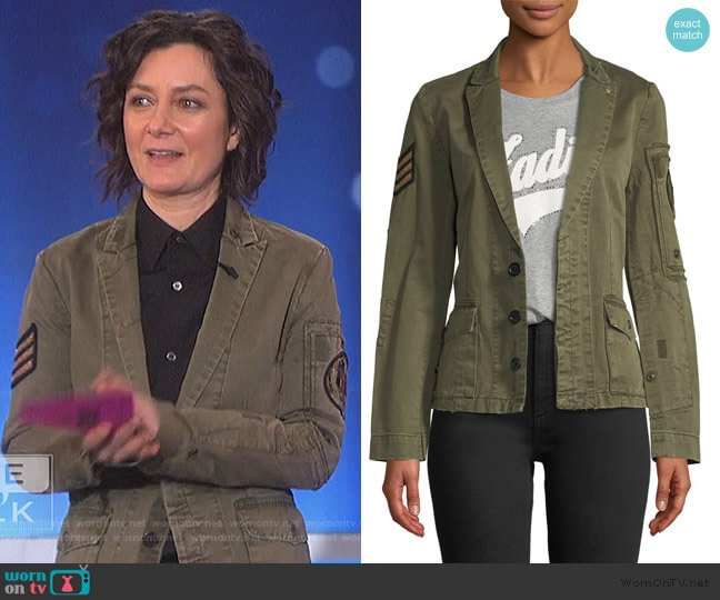Virginia Grunge Cotton Jacket by Zadig & Voltaire worn by Sara Gilbert  on The Talk