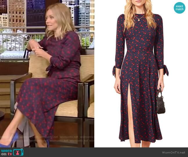 Zelda Dress by Reformation worn by Kelly Ripa (Kelly Ripa) on Live with Kelly & Ryan
