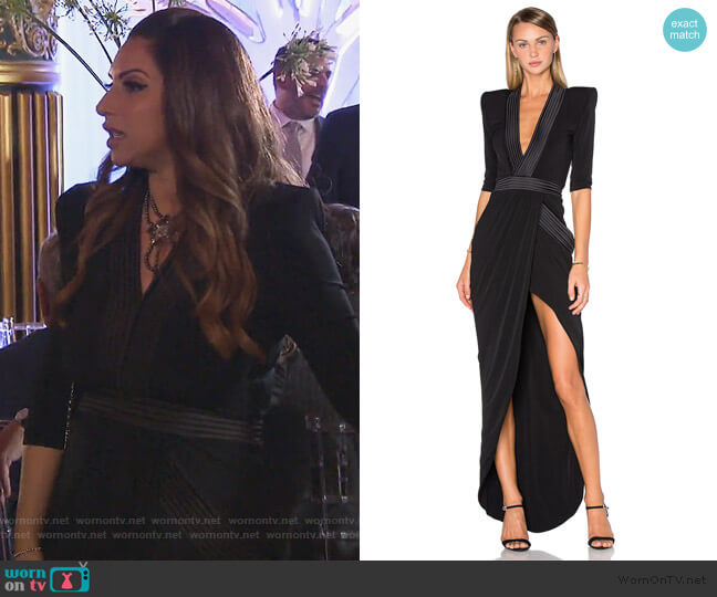 Eye Of Horus Gown by Zhivago worn by Jennifer Aydin (Jennifer Aydin) on The Real Housewives of New Jersey