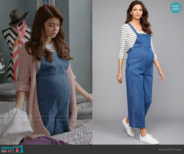 A Pea in the Pod Luxe Essentials Wide Leg Maternity Overall worn by Haley Dunphy (Sarah Hyland) on Modern Family