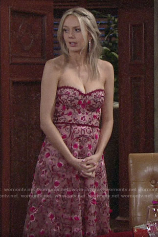 Abby's strapless Valentines Day dress on The Young and the Restless