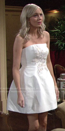 Abby's engagement photoshoot dress on The Young and the Restless