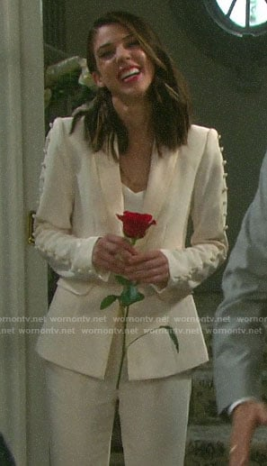 Abigail's wedding suit on Days of our Lives
