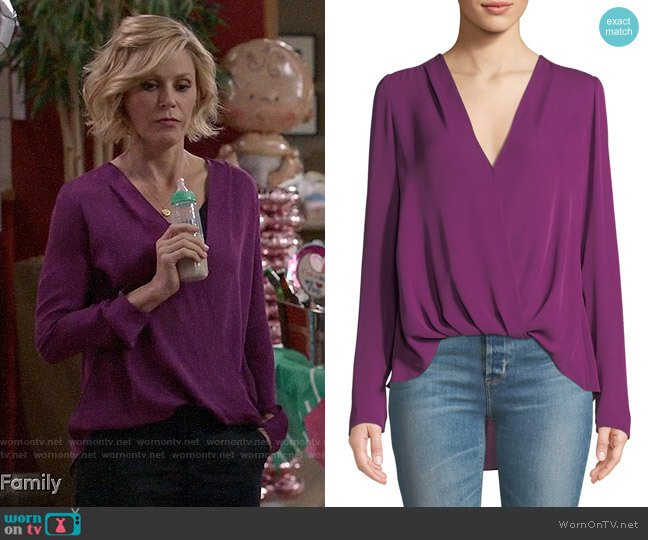 A.L.C. Harmon Blouse worn by Claire Dunphy (Julie Bowen) on Modern Family