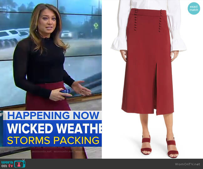 Sydney Skirt by A.L.C. worn by Ginger Zee  on Good Morning America