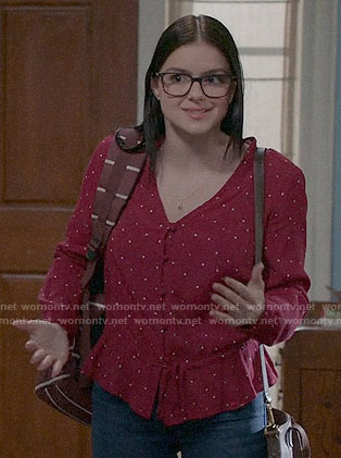 Alex's red polka dot top on Modern Family