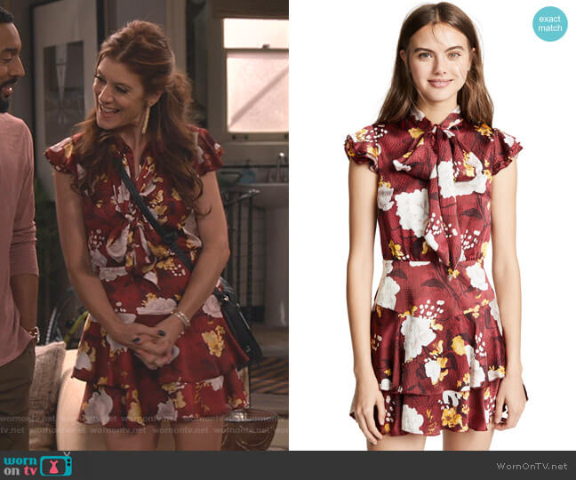 Lashay Dress by Alice + Olivia worn by Kate Walsh on Fam
