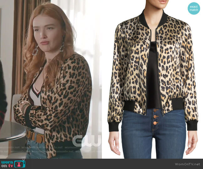Lonnie Reversible Bomber Jacket by Alice + Olivia worn by Kirby Anders (Maddison Brown) on Dynasty