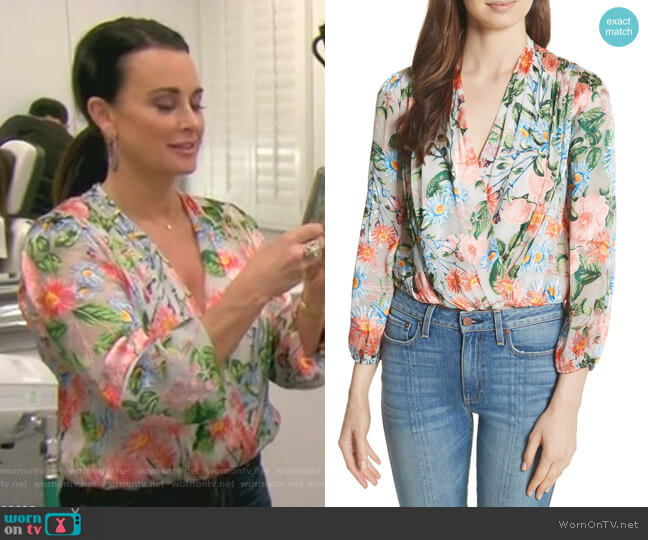 Trista Top by Alice + Olivia worn by Kyle Richards  on The Real Housewives of Beverly Hills