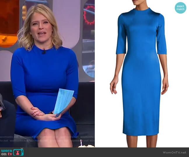 Delora Dress by Alice + Olivia worn by Sara Haines  on Good Morning America