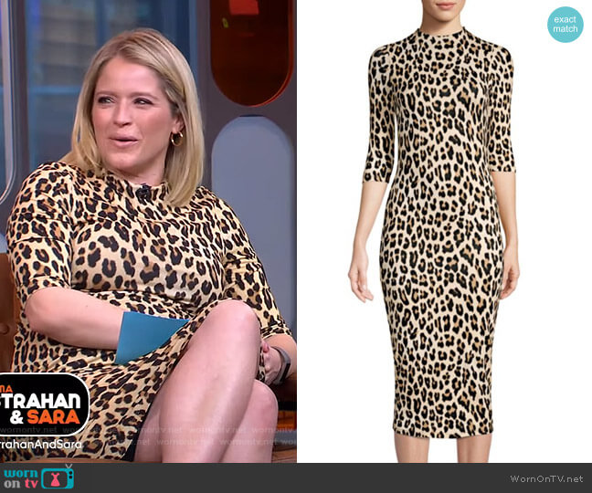 8b1d17314775 Delora Dress by Alice + Olivia worn by Sara Haines on Good Morning America