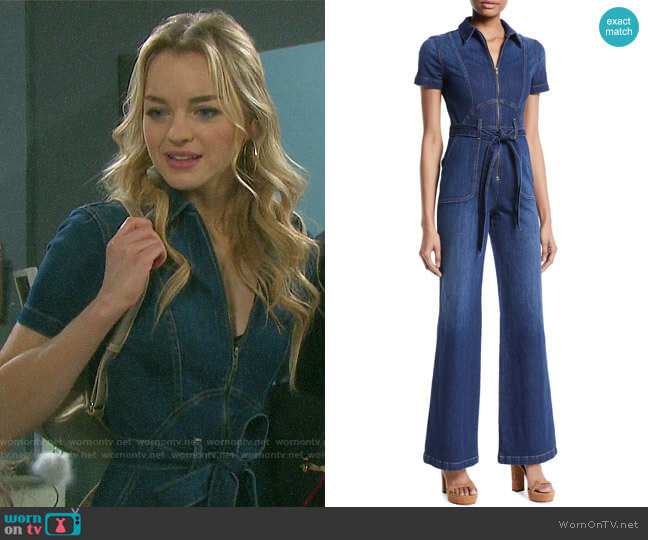 Alice + Olivia Gorgeous Jumpsuit worn by Claire Brady (Olivia Keegan) on Days of our Lives