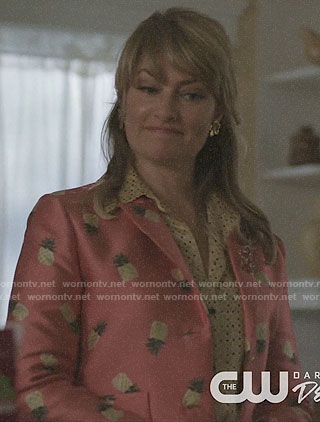 Alice's pink pineapple print jacket on Riverdale