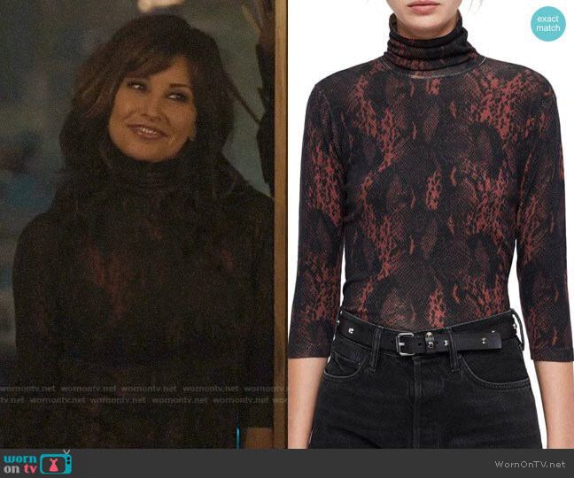 All Saints Suki Top worn by Gladys Jones (Gina Gershon) on Riverdale