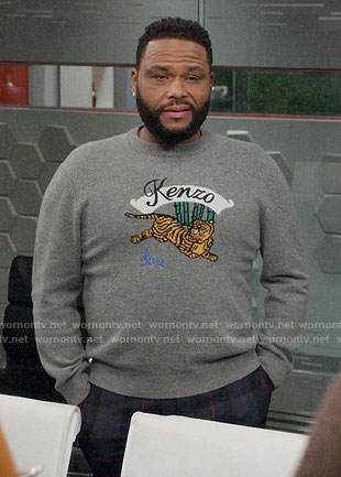 Andre's Kenzo tiger sweater on Black-ish