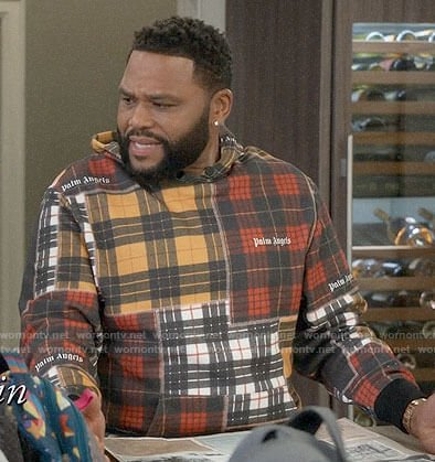 Andre's patchwork plaid hoodie on Black-ish