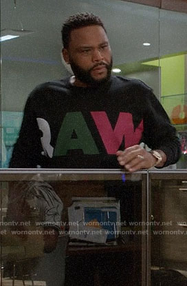 Andre's RAW sweatshirt on Black-ish