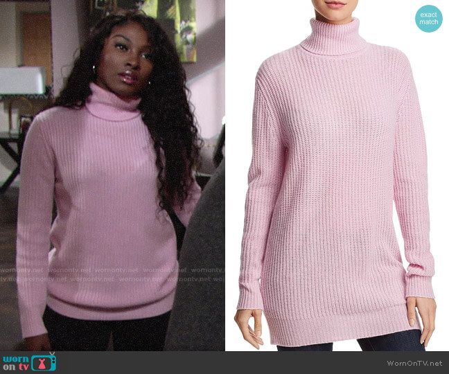 Aqua Cashmere Turtleneck Tunic worn by Ana Hamilton (Loren Lott) on The Young & the Restless