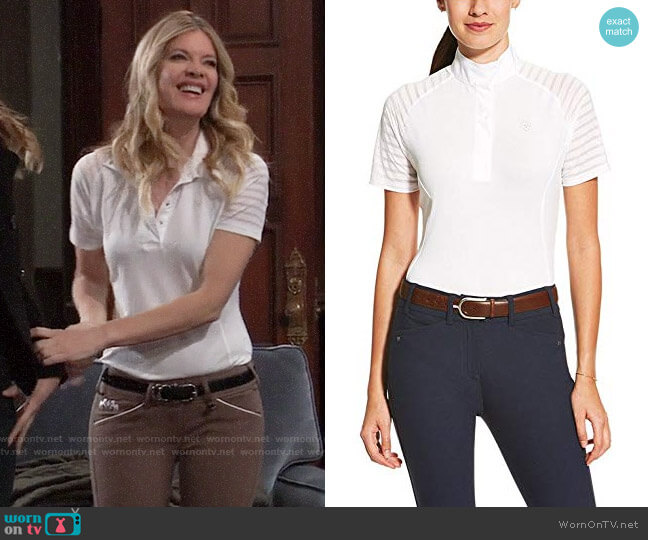 Ariat Aptos Vent Show Shirt worn by Nina Reeves (Michelle Stafford) on General Hospital
