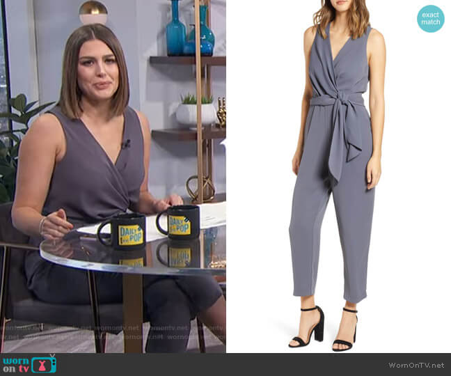 Side Tie Jumpsuit by ASTR The Label worn by Carissa Loethen Culiner  on E! News
