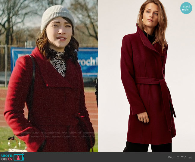 Babaton Connor Wool Coat worn by Cara Bloom (Violett Beane) on God Friended Me