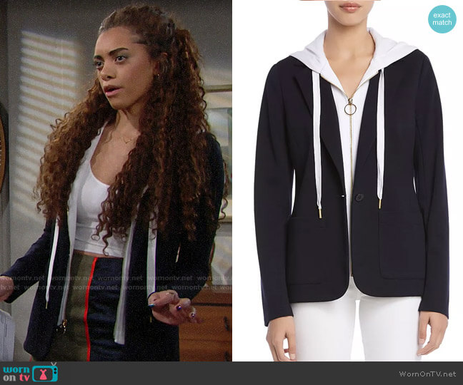 Bailey 44 Jolly Boat Layered-Look Blazer worn by Zoe (Kiara Barnes) on The Bold & the Beautiful