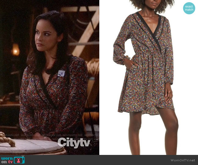Band of Gypsies Floral Faux Wrap Dress worn by Amy Santiago (Melissa Fumero) on Brooklyn Nine-Nine