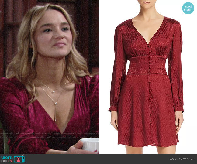 Band of Gypsies Skylar Jacquard Dress worn by Summer Newman (Hunter King) on The Young & the Restless