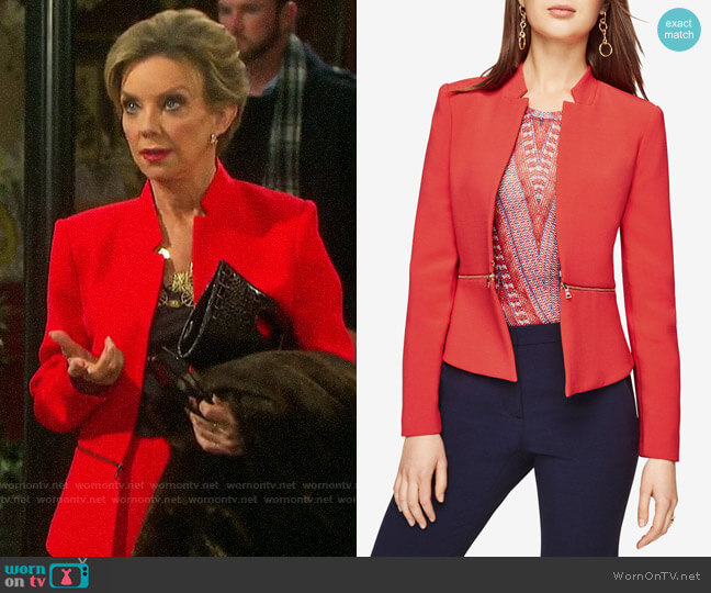 Bcbgmaxazria Barrett Peplum Jacket worn by Diana Cooper (Judith Chapman) on Days of our Lives