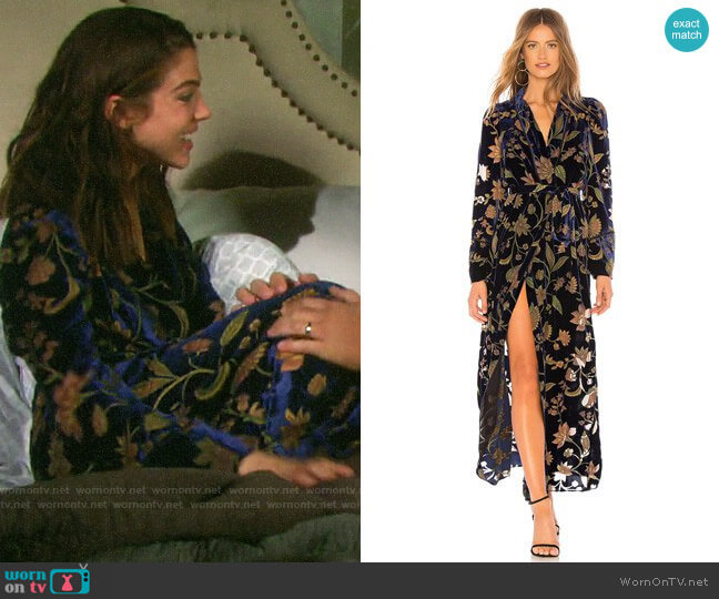 Bcbgmaxazria Velvet Wrap Dress worn by Abigail Deveraux (Kate Mansi) on Days of our Lives