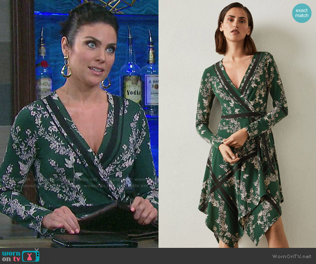 Bcbgmaxazria Isabella Floral Wrap Dress worn by Chloe Lane (Nadia Bjorlin) on Days of our Lives