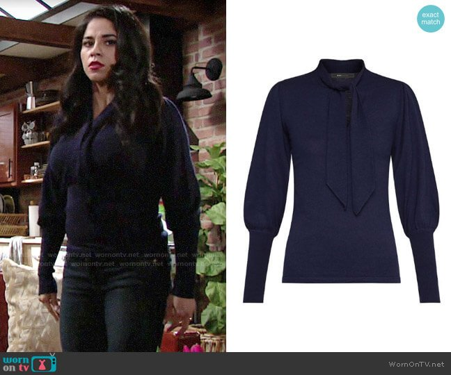 Bcbgmaxazria Juliette Sleeve Sweater worn by Mia Rosales (Noemi Gonzalez) on The Young & the Restless