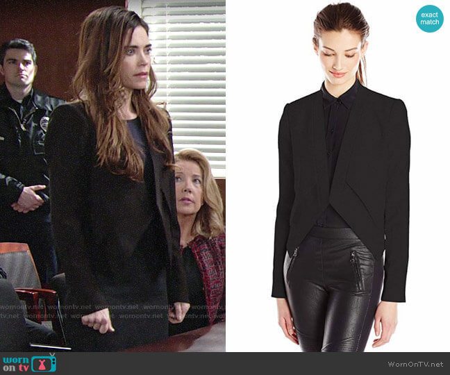 Bcbgmaxazria Lloyd Jacket worn by Victoria Newman (Amelia Heinle) on The Young & the Restless