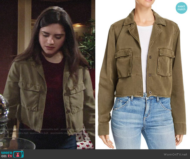 Bella Dahl Cropped Military Jacket worn by Lola Rosales (Sasha Calle) on The Young & the Restless