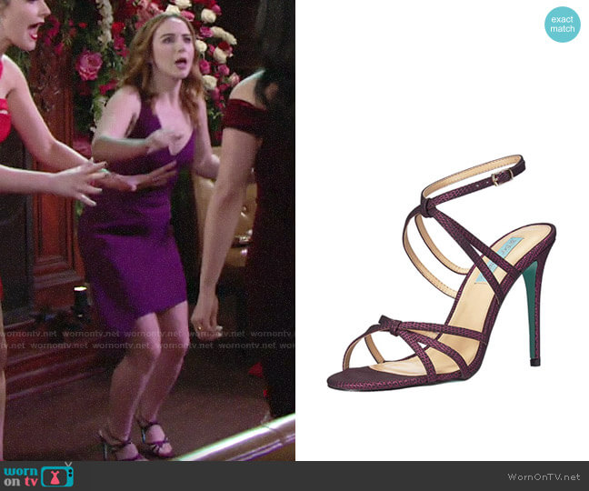 Betsey Johnson Myla Sandals worn by Mariah Copeland (Camryn Grimes) on The Young & the Restless