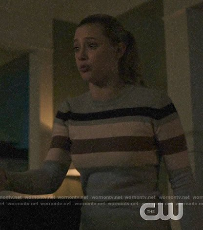 Betty's striped sweater on Riverdale