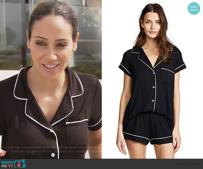 Gisele Short PJ Set by Eberjey worn by Melissa Gorga  on The Real Housewives of New Jersey