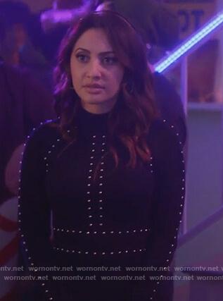 Ana's black studded dress on Grown-ish