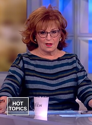 Joy's striped linen top on The View