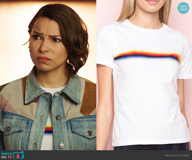 Brandy Melville Rainbow Stripe Jamie Top worn by Nora West-Allen (Jessica Parker Kennedy) on The Flash
