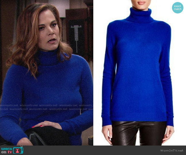 C by Bloomingdales Cashmere Turtleneck Sweater worn by Phyllis Newman (Gina Tognoni) on The Young & the Restless