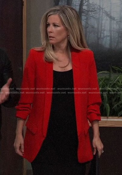 Carly's red blazer on General Hospital