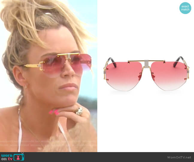 59MM Aviator Sunglasses by Celine worn by Teddi Mellencamp Arroyave  on The Real Housewives of Beverly Hills