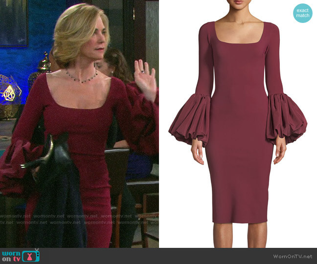 Chiara Boni La Petite Robe Ary Dress worn by Eve Donovan (Kassie DePaiva) on Days of our Lives
