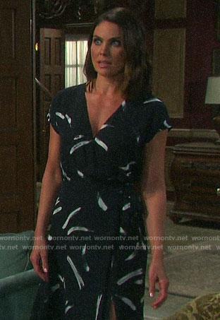 Chloe's brushstroke print dress on Days of our Lives