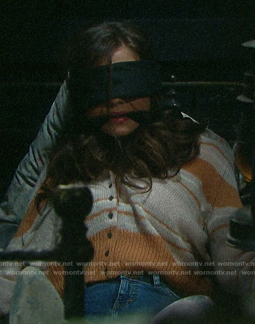 Ciara's striped cardigan on Days of our Lives