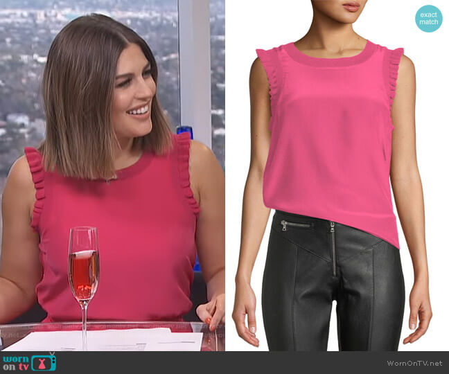 Tous Les Jours Lenore Top by Cinq a Sept worn by Carissa Loethen Culiner  on E! News