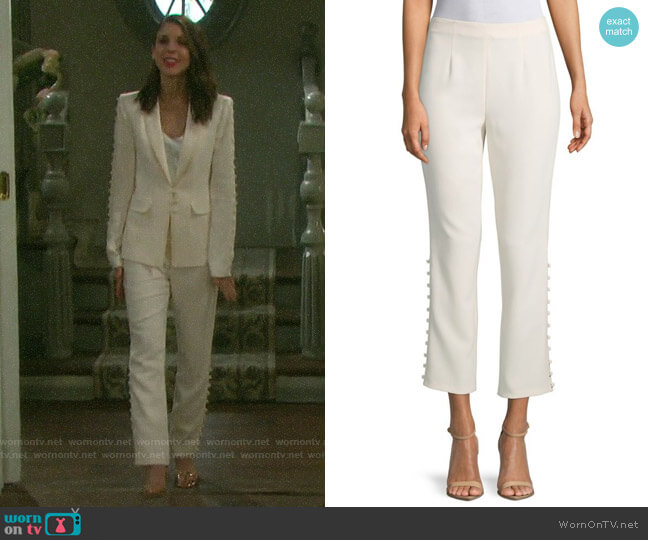 Cinq a Sept Lida Pants worn by Abigail Deveraux (Kate Mansi) on Days of our Lives